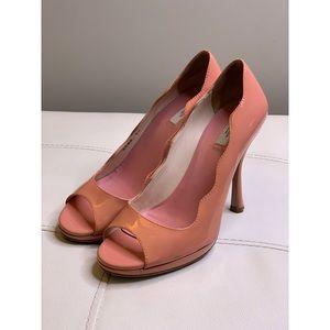 Pink Prada Peep-Toe Heels